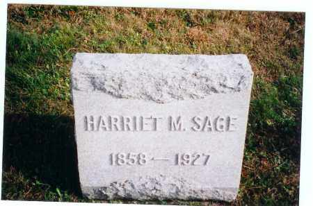 SAGE, HARRIET M. - Vinton County, Ohio | HARRIET M. SAGE - Ohio Gravestone Photos