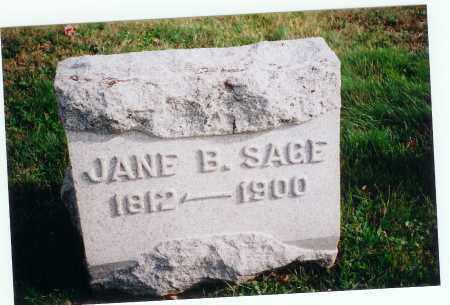 SAGE, JANE B. - Vinton County, Ohio | JANE B. SAGE - Ohio Gravestone Photos