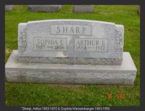 WEISENBARGER SHARP, SOPHIA - Vinton County, Ohio | SOPHIA WEISENBARGER SHARP - Ohio Gravestone Photos