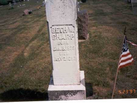 SHARP, SETH W. - Vinton County, Ohio | SETH W. SHARP - Ohio Gravestone Photos