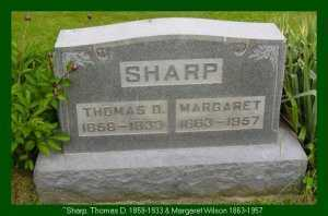 SHARP, THOMAS D. - Vinton County, Ohio | THOMAS D. SHARP - Ohio Gravestone Photos