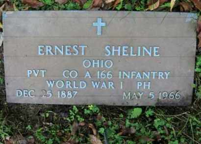 SHELINE, ERNEST - Vinton County, Ohio | ERNEST SHELINE - Ohio Gravestone Photos