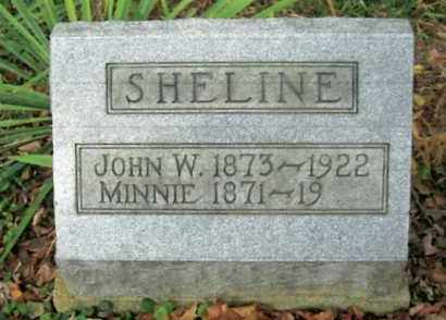 SHELINE, MINNINE - Vinton County, Ohio | MINNINE SHELINE - Ohio Gravestone Photos