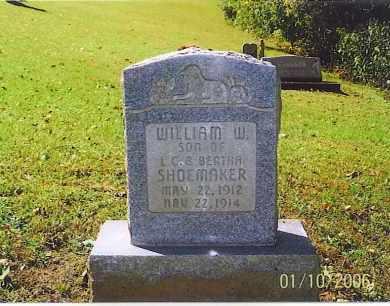 SHOEMAKER, WILLIAM W. - Vinton County, Ohio | WILLIAM W. SHOEMAKER - Ohio Gravestone Photos
