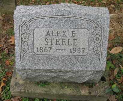 STEELE, ALEX  E. - Vinton County, Ohio | ALEX  E. STEELE - Ohio Gravestone Photos