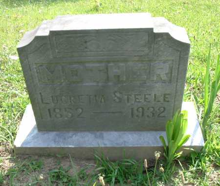STEELE, LUCRETIA - Vinton County, Ohio | LUCRETIA STEELE - Ohio Gravestone Photos