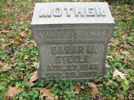 STEELE, SARAH M. - Vinton County, Ohio | SARAH M. STEELE - Ohio Gravestone Photos