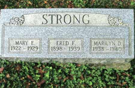 STRONG, FRED F. - Vinton County, Ohio | FRED F. STRONG - Ohio Gravestone Photos