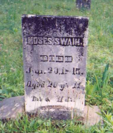 SWAIM, MOSES - Vinton County, Ohio | MOSES SWAIM - Ohio Gravestone Photos