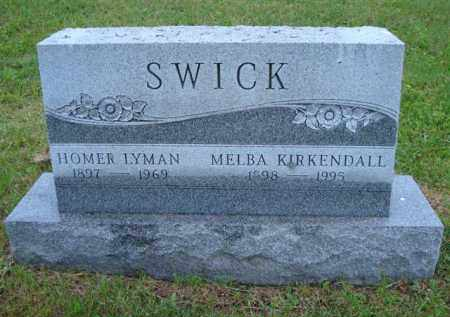 SWICK, HOMER LYMAN - Vinton County, Ohio | HOMER LYMAN SWICK - Ohio Gravestone Photos