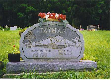 TATMAN, EDNA MAE - Vinton County, Ohio | EDNA MAE TATMAN - Ohio Gravestone Photos