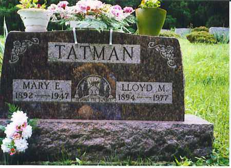 TATMAN, MARY ELLEN - Vinton County, Ohio | MARY ELLEN TATMAN - Ohio Gravestone Photos