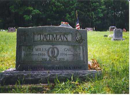 MILLS TATMAN, RUTH - Vinton County, Ohio | RUTH MILLS TATMAN - Ohio Gravestone Photos