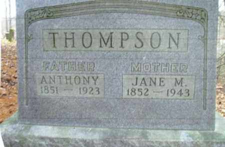 THOMPSON, JANE M. - Vinton County, Ohio | JANE M. THOMPSON - Ohio Gravestone Photos