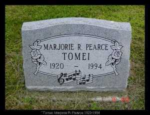 PEARCE TOMEI, MARJORIE R. - Vinton County, Ohio | MARJORIE R. PEARCE TOMEI - Ohio Gravestone Photos