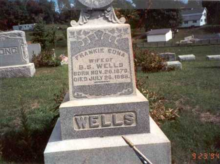 LONG WELLS, FRANKIE EDNA - Vinton County, Ohio | FRANKIE EDNA LONG WELLS - Ohio Gravestone Photos