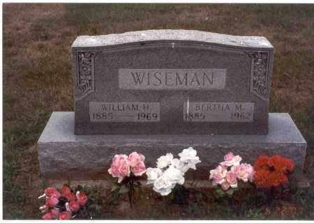 WISEMAN, BERTHA M. - Vinton County, Ohio | BERTHA M. WISEMAN - Ohio Gravestone Photos