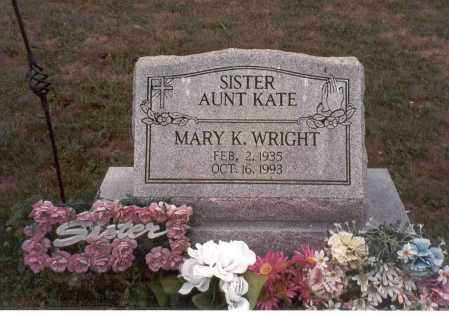 WRIGHT, MARY K. - Vinton County, Ohio | MARY K. WRIGHT - Ohio Gravestone Photos