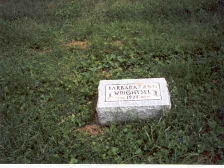 WRIGHTSEL, BARBARA ANN - Vinton County, Ohio   BARBARA ANN WRIGHTSEL - Ohio Gravestone Photos