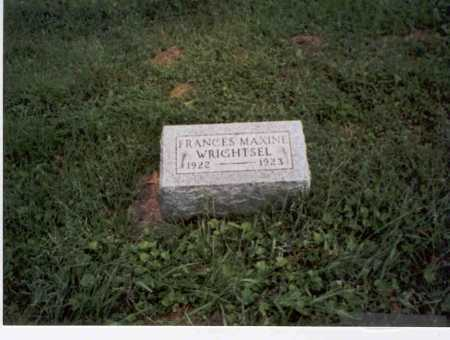 WRIGHTSEL, FRANCES MAXINE - Vinton County, Ohio | FRANCES MAXINE WRIGHTSEL - Ohio Gravestone Photos