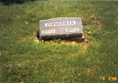 ZIMMERMAN, EDWIN D. - Vinton County, Ohio | EDWIN D. ZIMMERMAN - Ohio Gravestone Photos