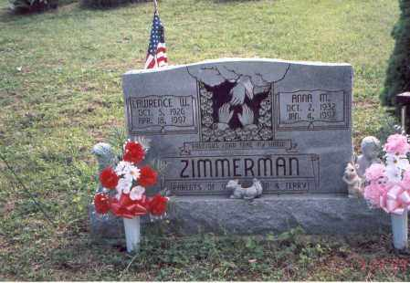 ZIMMERMAN, LAWRENCE W. - Vinton County, Ohio | LAWRENCE W. ZIMMERMAN - Ohio Gravestone Photos