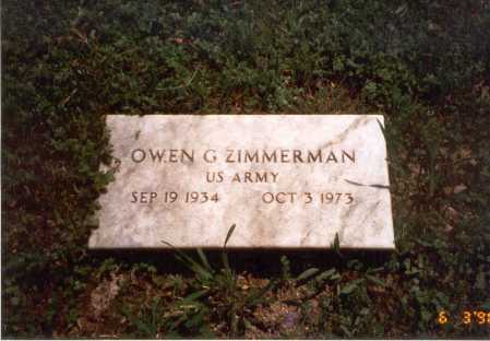 ZIMMERMAN, OWEN G. - Vinton County, Ohio | OWEN G. ZIMMERMAN - Ohio Gravestone Photos