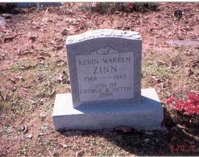 ZINN, KEVIN WARREN - Vinton County, Ohio | KEVIN WARREN ZINN - Ohio Gravestone Photos