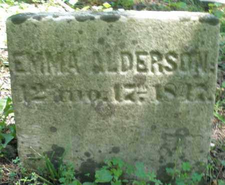 ALDERSON, EMMA - Warren County, Ohio | EMMA ALDERSON - Ohio Gravestone Photos