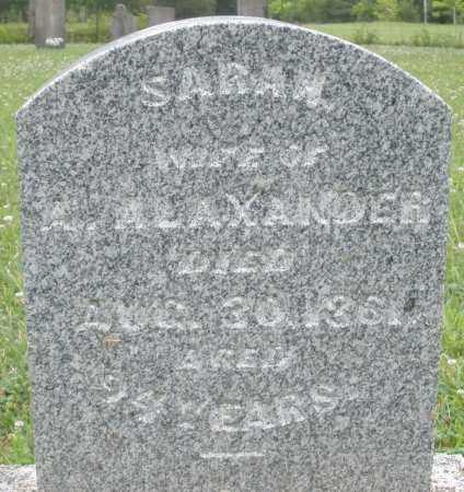 ALEXANDER, SARAH - Warren County, Ohio | SARAH ALEXANDER - Ohio Gravestone Photos