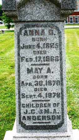 ANDERSON, MAY A. - Warren County, Ohio | MAY A. ANDERSON - Ohio Gravestone Photos