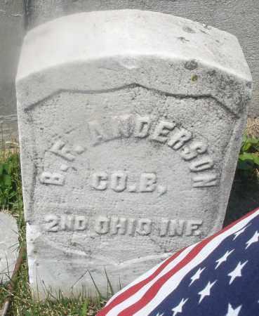 ANDERSON, B.F. - Warren County, Ohio   B.F. ANDERSON - Ohio Gravestone Photos