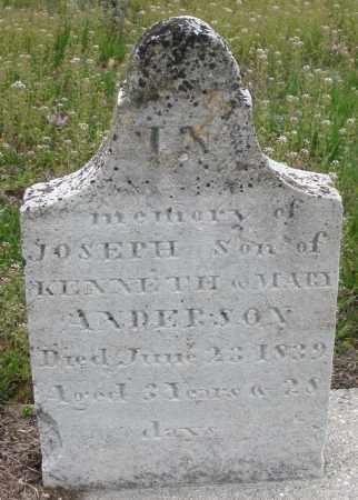 ANDERSON, JOSEPH - Warren County, Ohio | JOSEPH ANDERSON - Ohio Gravestone Photos