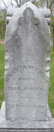 ANDERSON, MARY - Warren County, Ohio | MARY ANDERSON - Ohio Gravestone Photos