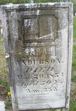 ANDERSON, SARAH - Warren County, Ohio | SARAH ANDERSON - Ohio Gravestone Photos
