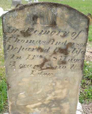 ANDERSON, THOMAS - Warren County, Ohio | THOMAS ANDERSON - Ohio Gravestone Photos