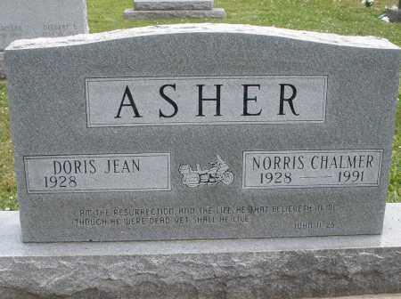 ASHER, NORRIS CHALMER - Warren County, Ohio | NORRIS CHALMER ASHER - Ohio Gravestone Photos