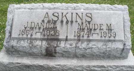 ASKINS, J. DANIEL - Warren County, Ohio | J. DANIEL ASKINS - Ohio Gravestone Photos
