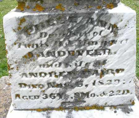 VANDEVEER BAIRD, PHEBE ANN - Warren County, Ohio | PHEBE ANN VANDEVEER BAIRD - Ohio Gravestone Photos