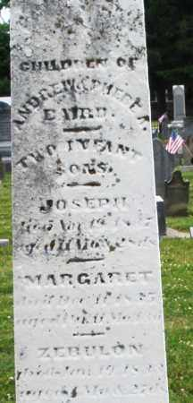 BAIRD, JOSEPH 1837 - Warren County, Ohio | JOSEPH 1837 BAIRD - Ohio Gravestone Photos