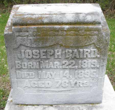 BAIRD, JOSEPH - Warren County, Ohio | JOSEPH BAIRD - Ohio Gravestone Photos