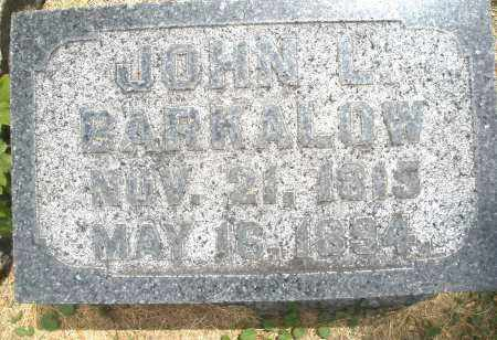 BARKALOW, JOHN L. - Warren County, Ohio | JOHN L. BARKALOW - Ohio Gravestone Photos