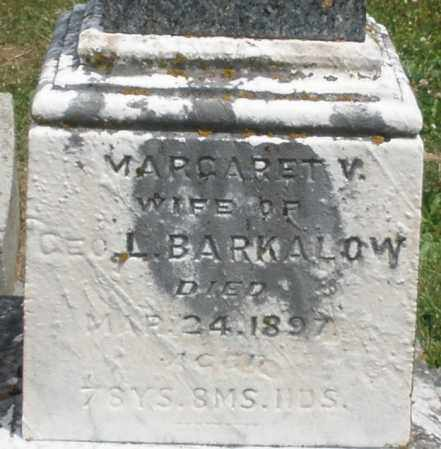 BARKALOW, MARGARET V. - Warren County, Ohio | MARGARET V. BARKALOW - Ohio Gravestone Photos