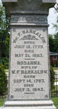 BARKALOW, ROSANNA - Warren County, Ohio | ROSANNA BARKALOW - Ohio Gravestone Photos