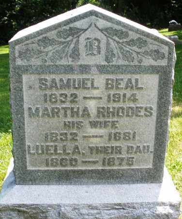 RHODES BEAL, MARTHA - Warren County, Ohio | MARTHA RHODES BEAL - Ohio Gravestone Photos