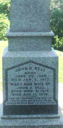 BELL, JOHN H.. - Warren County, Ohio | JOHN H.. BELL - Ohio Gravestone Photos