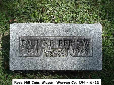 BURSK BERGAW, PAULINE - Warren County, Ohio | PAULINE BURSK BERGAW - Ohio Gravestone Photos