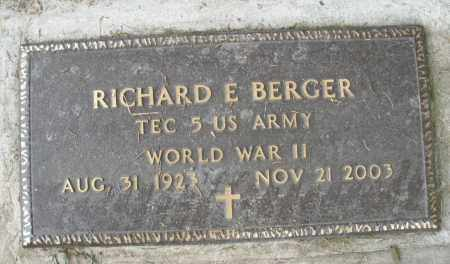 BERGER, RICHARD E. - Warren County, Ohio | RICHARD E. BERGER - Ohio Gravestone Photos