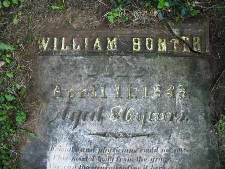 BONTER, WILLIAM - Warren County, Ohio | WILLIAM BONTER - Ohio Gravestone Photos