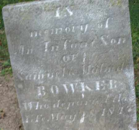 BOWKER, INFANT SON - Warren County, Ohio | INFANT SON BOWKER - Ohio Gravestone Photos